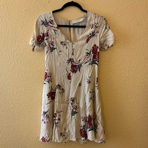 ASTR Floral Flare Midi Dress